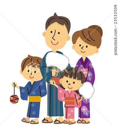 Summer Festival Family Parenthood Stock Illustration 23533509 Pixta