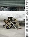 paris airport landing and loading cargo  23538764