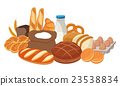 Bread icons. Bakery products. Vector 23538834