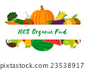 Organic fruits and vegetables template. 23538917