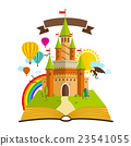 Fairy Tale castle. Vector Illustration with Book 23541055