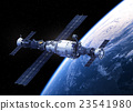 Space Station Orbiting Earth 23541980