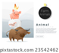 Farm animals background 23542462