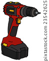 Red cordless screwdriver 23542625