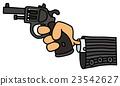 Gun in a hand 23542627