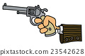 Gun in a hand 23542628