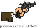 Gun in a hand 23542629