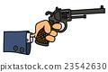 Gun in a hand 23542630