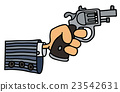 Gun in a hand 23542631