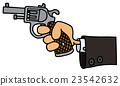 Gun in a hand 23542632