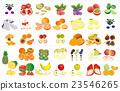 vectors, vector, cut fruit 23546265