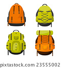 Backpack in a flat stzle. Vector illustration 23555002