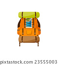 Backpack in a flat stzle. Vector illustration 23555003