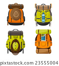 Backpack in a flat stzle. Vector illustration 23555004