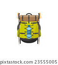 Backpack in a flat stzle. Vector illustration 23555005