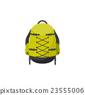 Backpack in a flat stzle. Vector illustration 23555006