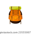 Backpack in a flat stzle. Vector illustration 23555007