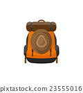Backpack in a flat stzle. Vector illustration 23555016
