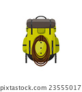 Backpack in a flat stzle. Vector illustration 23555017