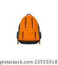 Backpack in a flat stzle. Vector illustration 23555018