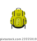 Backpack in a flat stzle. Vector illustration 23555019