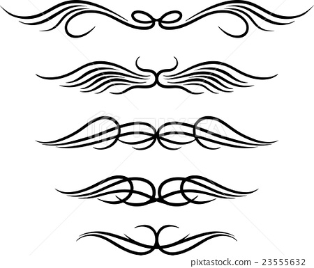 Set of wings tribal tattoo 23555632