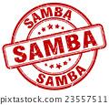 samba red grunge round vintage rubber stamp 23557511