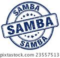 samba blue grunge round vintage rubber stamp 23557513