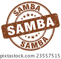 samba brown grunge round vintage rubber stamp 23557515