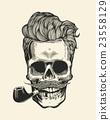 vector, skull, head 23558129