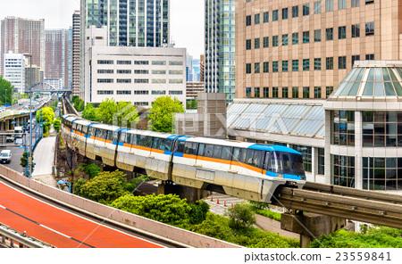 Tokyo Monorail at Tennozu Isle Station 23559841