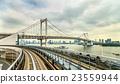 View of the Rainbow Bridge from Yurikamome Loop 23559944