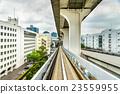 Yurikamome line on the Rainbow bridge in Tokyo 23559955