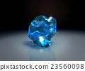 blue crystal stone on table 23560098