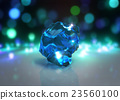 blue crystal with Light bokeh background 23560100