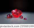 red crystals on table 23560109