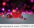 red crystals with Light bokeh background 23560110