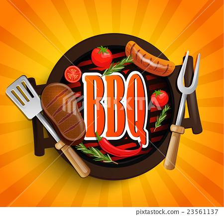 BBQ Grill elements. Vector. 23561137
