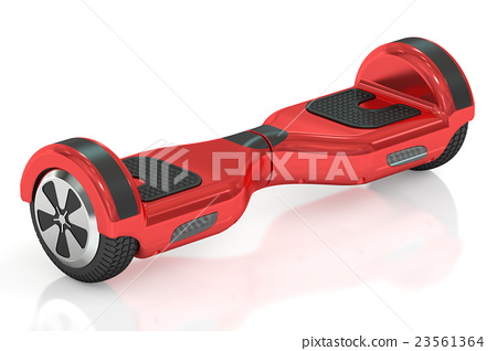 red hoverboard or self-balancing scooter 23561364