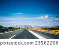 Beautiful empty asphalt freeway, motorway, highway 23562206