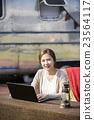 女性 女 電腦 23564117