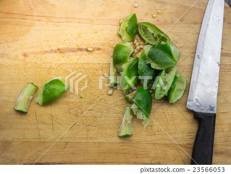 Cooking vegetables salad in kitchen 23566053
