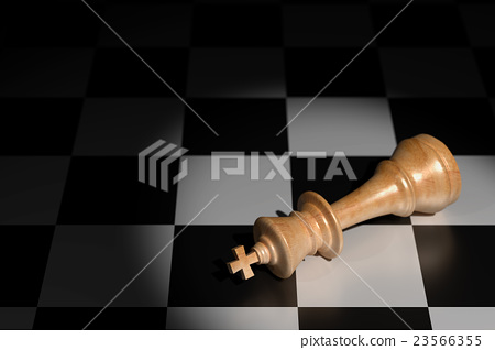Failure Concept in Business, Chess 3D Rendering 23566355