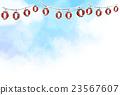 sky, red paper lantern, clouds 23567607