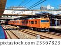 Local train at Tennoji Station in Osaka 23567823