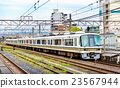 Rapid train at Oji Station in Nara 23567944