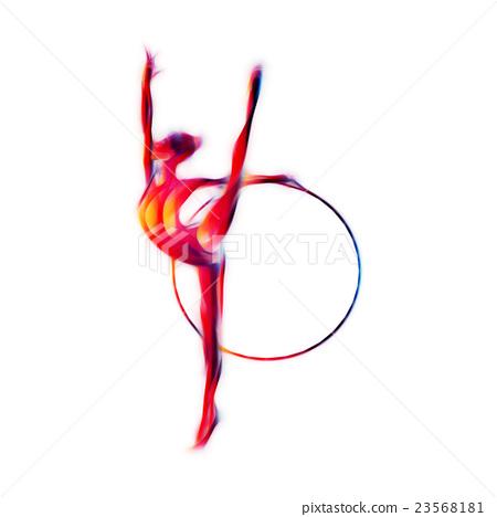 Rhythmic Gymnastics with Hoop Silhouette 23568181