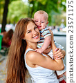 mother, baby, outdoors 23571175