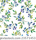 Blueberry seamless graphic pattern. 23571453
