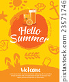 hello summer beach party poster background  23571746